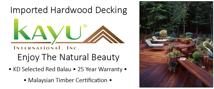 Kayu Decking is a Best in Class product selection at Lenihan Lumber