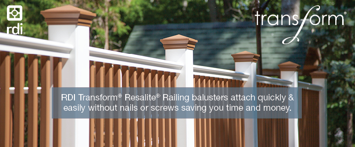 RDI Transform Resalite Railing is a Best In Class product at Lenihan Lumber